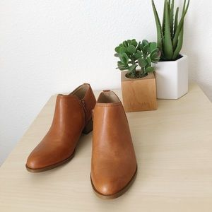 NATURALIZER zarie saddle tan leather booties